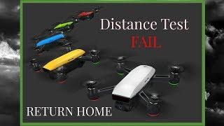 DJI Spark, DISTANCE TEST FAIL, Return HOME mode kicked in