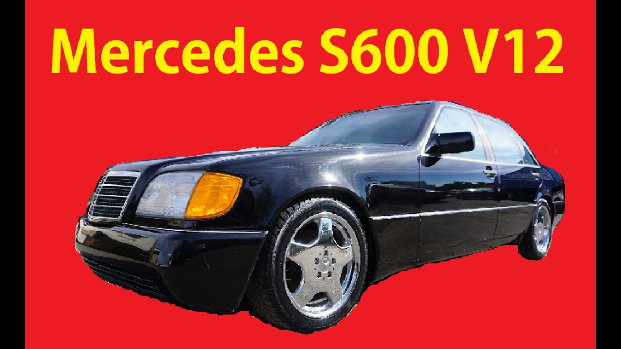 1993 Mercedes Benz 600SEL W140 V12 Sedan S600 Video Review ...