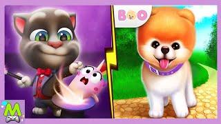 Мой Говорящий Том vs Бу Милая Собачка Кошки против Собак Кто Самый Милый и Добрый Питомец
