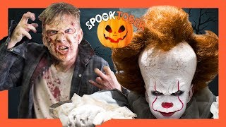 "Extreme Halloween Makeover: ""It"" & The Walking Dead"