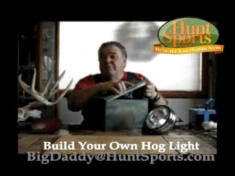 Build Your Own LED Solar Power Dusk Dawn Hog Hunting Deer Feeder Night Hog Hunt Light