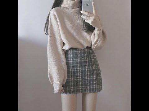 Cách Phối Đồ. Chân Váy Với Sweter Cho Mùa Đông Để Đi Chơi Và Noel Siêu Dễ Thương- Winter Fashion