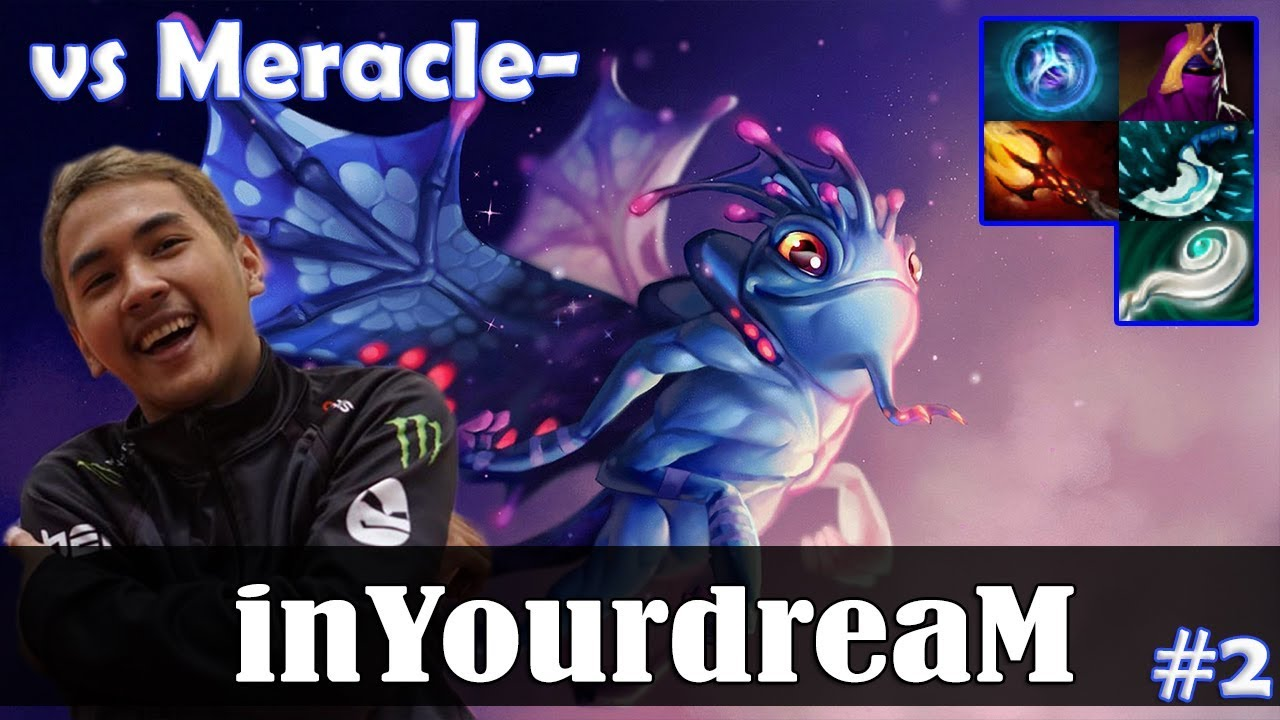 inYourdreaM - Puck MID | vs Meracle- (MK) 7 08 Update Patch | Dota 2