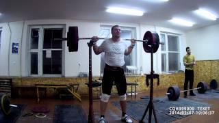 тяжелая атлетика - приседания 160кг-5п + 110кг-8п