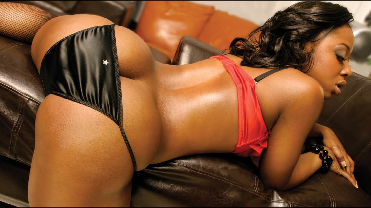 Ebony girls in silk panties