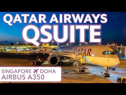 TRIP REPORT | Qatar Airways QSUITE | Airbus A350 Business Class | SIN-DOH