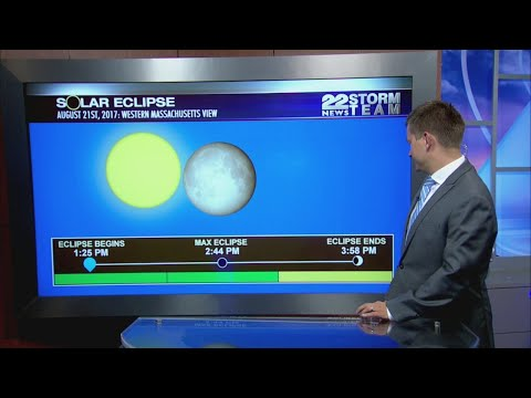 Solar Eclipse visible in Springfield, Massachusetts