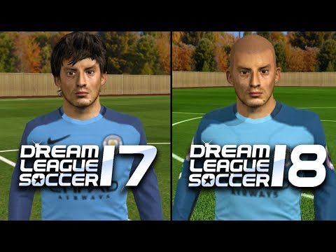 Dream League Soccer 17 vs Dream League Soccer 18 | Updated Faces