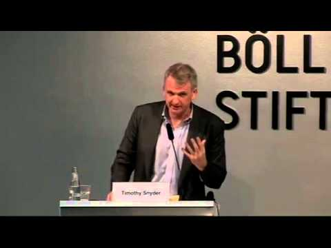 Timothy Snyder: Ukraine is but one aspect of a much larger strategy that threatens European order