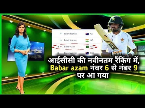 Indian media reacts to Babar Azam demise in test ranking  | faheem sportz