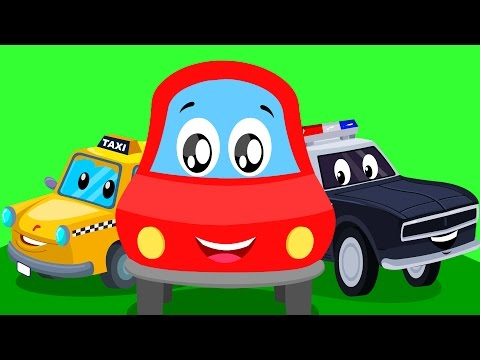 Thumbnail: Little red car | street vehicle song | Learn street vehicles with Little red car
