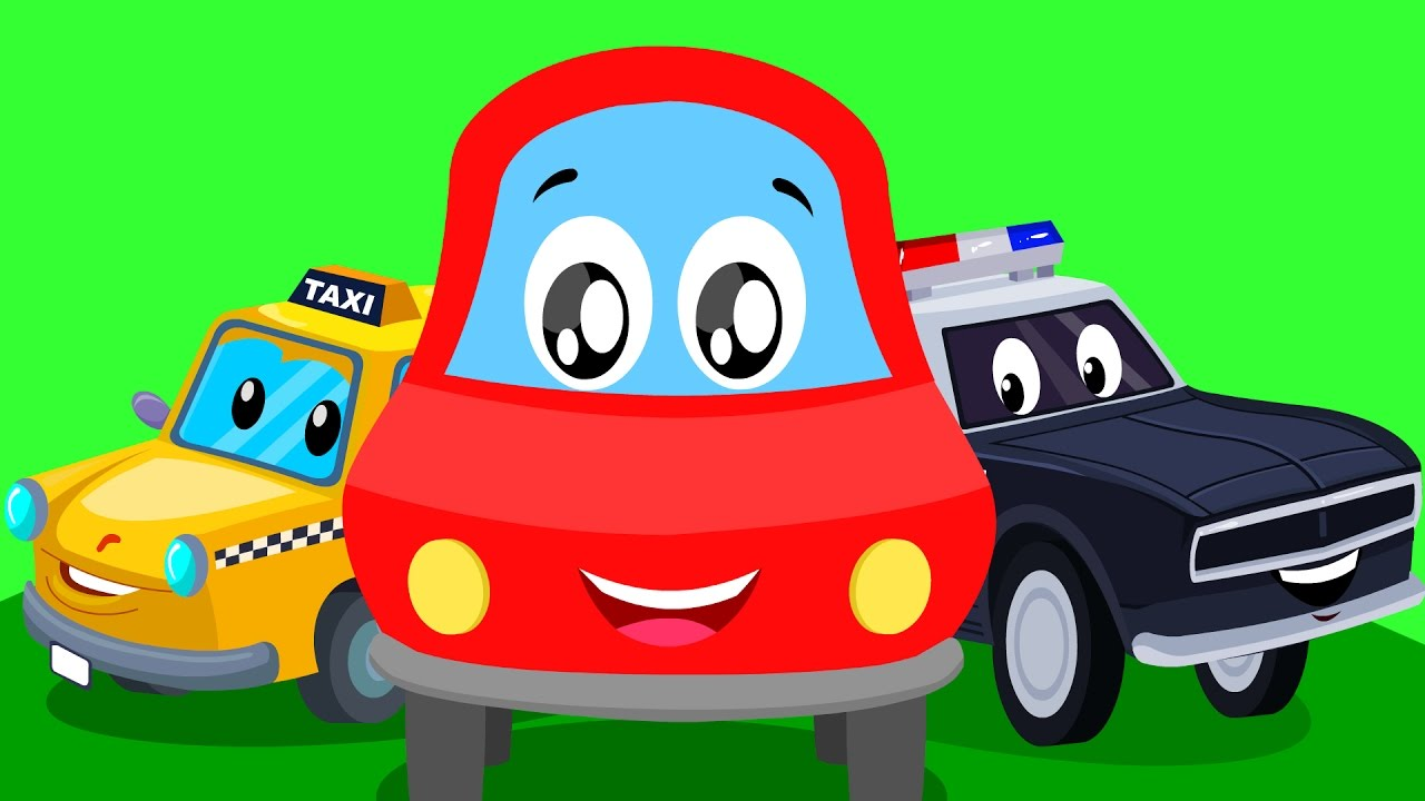 Little red car | street vehicle song | Learn street vehicles with ...