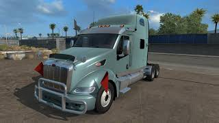 Please Subscribe For More Videos     Details & Download From http://www.modhub.us/american-truck-simulator-mods/peterbilt-387-v-1-3-137b-1-38-upd12-07-20/      Update 12.07.20  Improvements and fixes to the previously published version of the mod. Full list of fixes, as well as known bugs EXTERIOR: multiple edits to the materials and textures of chrome parts to improve their appearance. added a chrome version of the rear fenders. for the Midroof and Sleeper cabs, a chrome tool box is added on the frame to the left behind the cab. added plastic side skirts for the Midroof cab option, added a template for them. minor texture and mapping fixes for Midroof and Sleeper cabins, updated template. changes in the patterns of shadows. INTERIOR:  added two models of 2DIN tape recorders (with CD-drive), one of them is also added in the version with GPS or in Apple CarPlay mode (in this case, the IPhone Navigator is also installed immediately). minor texture fixes. KNOWN BUGS: The same as in the previous version of the mod.  Tested on the game version: 1.37. x. s and 1.38 Steam Public Beta.