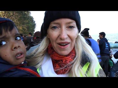 Women & Children Syrian Refugees - Lesbos Greece