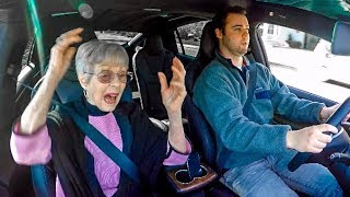 GRANDMA REACTS TO TESLA LAUNCH!
