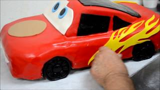 Lightning McQueen Car Shape Cake Recipe