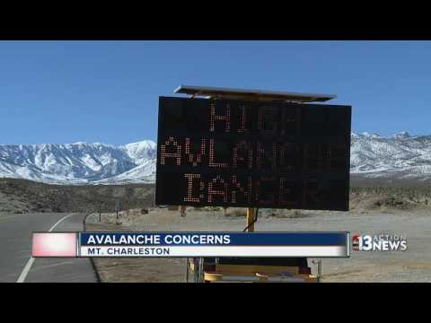 Avalanche risk in back country areas of Mount Charleston