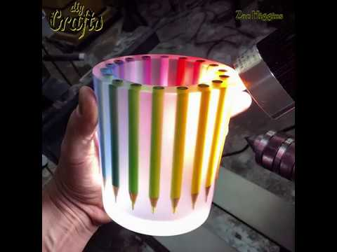 Make jar from pencil and resin