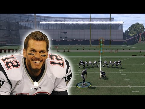 CAN TOM BRADY MAKE A FIELD GOAL - MADDEN 17 CHALLENGE