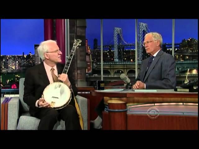 David Letterman 2012-09-24 Steve Martin Banjo Session ft. Mark Johnson & Emory Lester