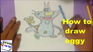 How to draw oggy. oggy drawing