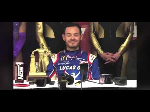 Kyle Larson post 2020 chili bowl win interview