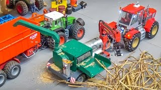 R/C tractor stone crusher and wood chopper in 1/32 scale! Hand made!