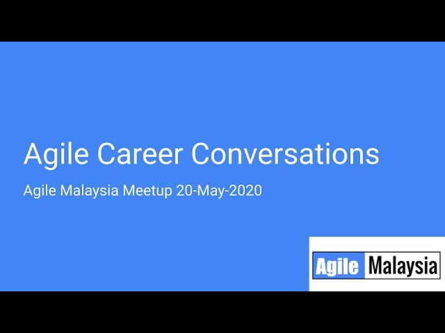 Developing a career in Agile