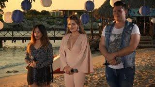 Timmy, Damiët en Salóme verrassen op het strand - IDOLS