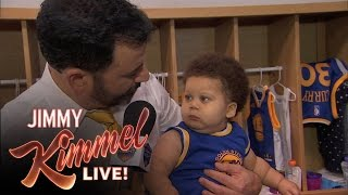 Jimmy Kimmel Interviews Baby Steph Curry & Baby Lebron James