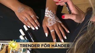 Handsmyckning och nageltrender - Nyhetsmorgon (TV4)