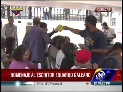 Ministro Reinaldo Iturriza en celebración del Día del Libro y lectura de obras de Eduardo Galeano