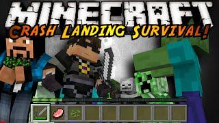 Minecraft Modded Crash Landing : MOB SLAYING!