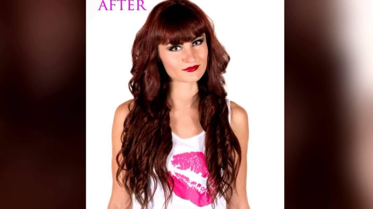 20 Inch 33 Dark Auburn Clip In Hair Extensions