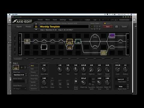 Current Worship Template for Fractal Audio Axe Fx II 2-7-18