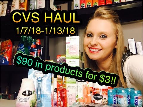 CVS HAUL 1/7/18-1/13/18 AMAZING!!!~ $90 IN PRODUCT FOR ONLY