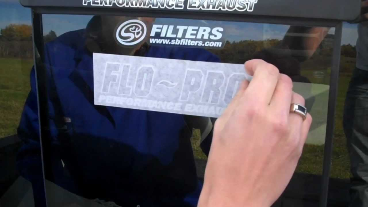 How to Apply a FLO~PRO Decal