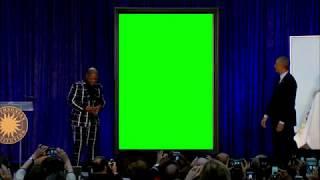 Obama Portrait Greenscreen