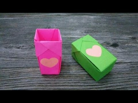 How to make a Storage Box | DIY paper crafts | Easy Origami step by step Tutorial