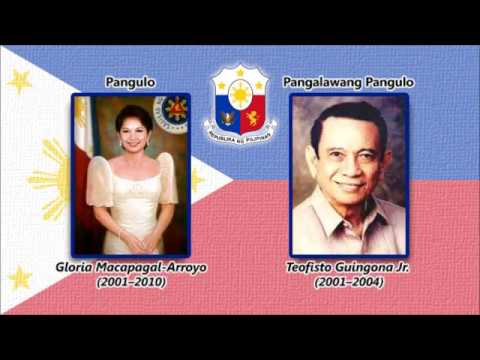 Lupang Hinirang (and the Presidents and Vice Presidents of Philippines as of 2017)