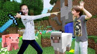 - Новый Minecraft Мир от Адриана  Выживание Светы ЛучшиеПодружки Смешное видео Майнкраф