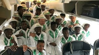 Mayor of Essentuki, top officials receive Super Eagles in Russia