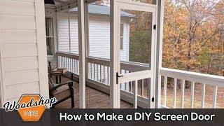 How to Make a DÏY Screen Door