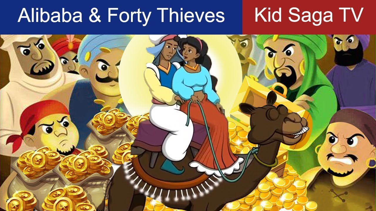 Alibaba And The Forty Thieves In English English Fairy Tail Kid Saga Tv Bedtime Stories For Kids Youtube