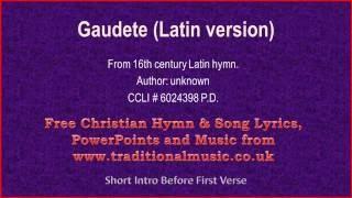 Gaudete(Latin version) - Christmas Carols Lyrics & Music