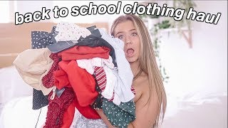 huge back to school try on clothing haul 2018!