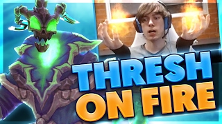 DOUBLE HOOK BUNNY HOP | I THROW FIRE BALLS | CRAZY THRESH SUPPORT GAME | BunnyFuFuu