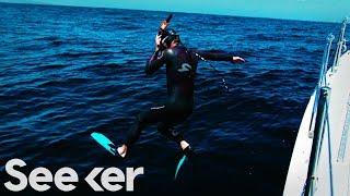 LIVE: Ben Lecomte Begins His 5,500-Mile Swim Across the Pacific Ocean