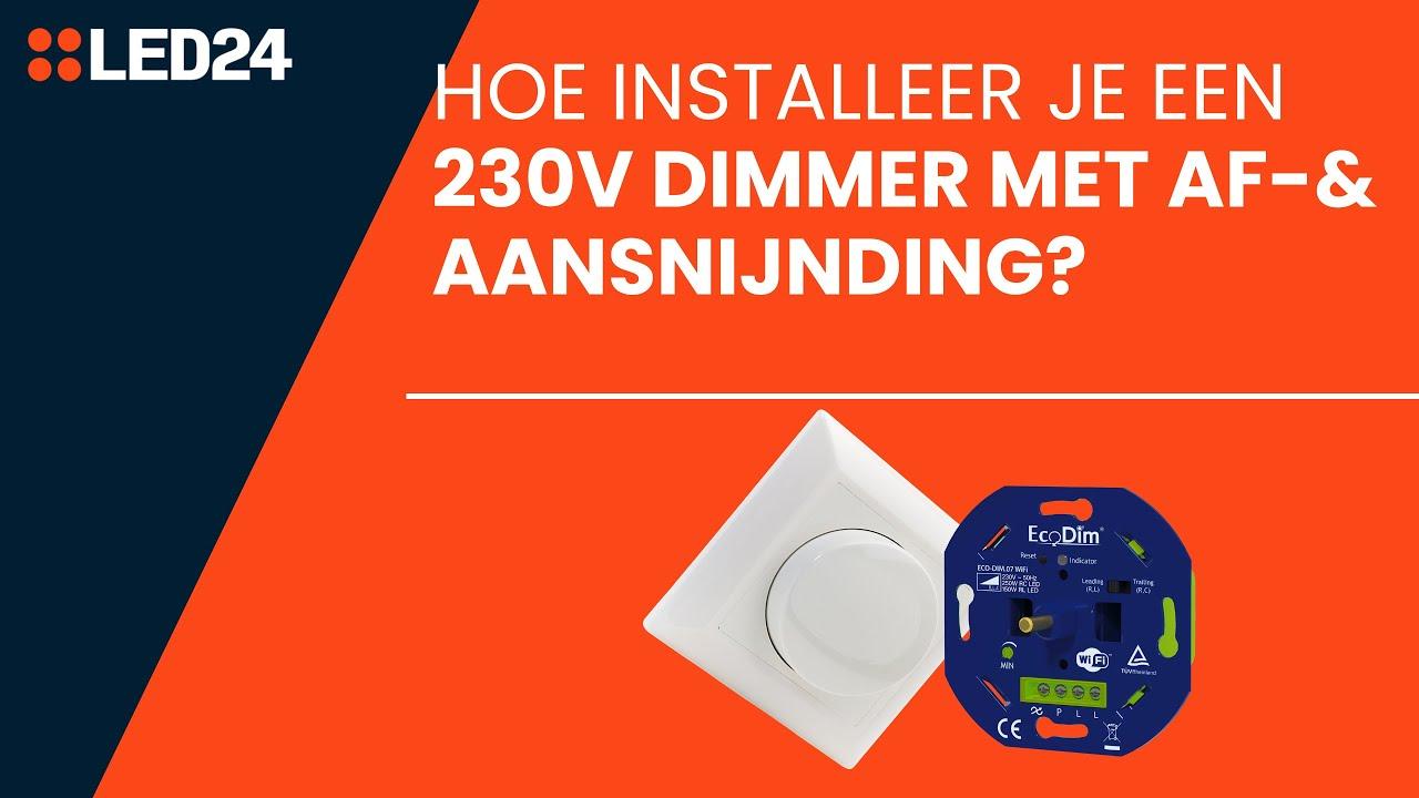 230V LED Dimmer Fase Af En Aansnijding Aansluiten