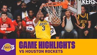 HIGHLIGHTS | Anthony Davis (32 pts, 13 reb, 3 blk, 3 stl) vs. Houston Rockets